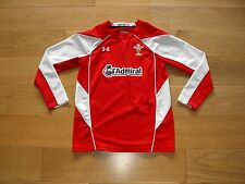 Under Armour Wales Rugby Union Shirt/top/jersey/sport/child/youth large