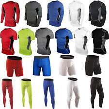 Mens Activewear Fitness Light Weight Base Layer Compression Under Skin Clothes