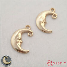50PCS 15*12MM Zinc Alloy Moon Charms Pendants Jewelry Findings Accessories 29356