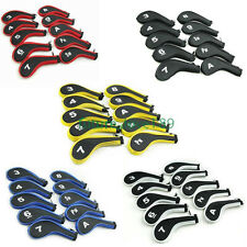 10pcs Number Long Neck Golf Club Iron Head Covers with Zipper for Callaway Ping