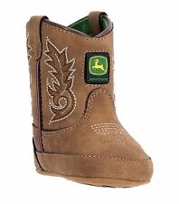 New John Deere JD0031 Baby's Tan Round Toe Pull-On Wellington Boots