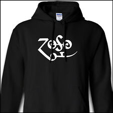 ZOSO Led Zeppelin Jimmy Page IV Runes Black Hoodie