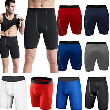 Mens Compression Baselayer Under Skin Stretch Pants Underwear Sport Gym Shorts