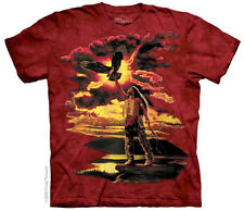 Gift of the Eagle Feather Adults Native American Art T-Shirt - Size S M L XL XXL