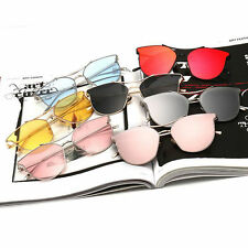 Vintage Style Metal Frame Eyewear Cat Eye Summer UV400 Driving Unisex Sunglasses