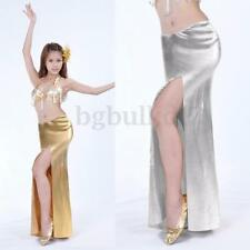 Professional Belly Dance Dancing Long Skirt Costume Party One side Slit Dress