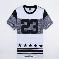 New Fashion Hip-hop burst crack 23 men's casual short-sleeved t-shirt T Shirt