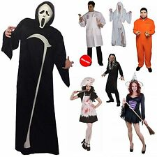 ADULTS HALLOWEEN COSTUME FANCY DRESS OUTFIT HORROR VAMPIRE WITCH PSYCHO SCARY