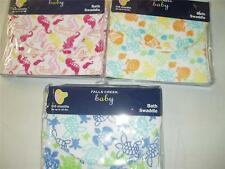 Falls Creek Baby Bath Swaddle Towel Turtle-Fish or Seahorse Terry Cloth New