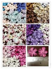 100 Artificial Mulberry Paper Flowers Handmade Petal Scrapbooking 20 mm #BS