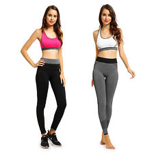 Ladies Elastic Yoga Cropped Pants Push-Up Sports Gym Fitness Jogging Leggings