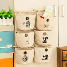 Fashion Cotton Pocket Hanging Holder Storage Bags Door Wall Hanging Organizer