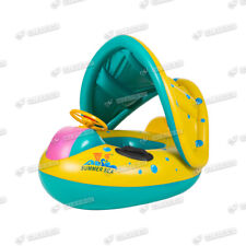 Inflatable Baby Toddler Float Swim Seat Boat Ring Adjustable Sunshade Protect