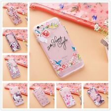 For Apple iPhone - CUTE FLOWER Ultra Thin Clear Soft TPU Rubber Skin Case Cover
