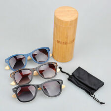 Most hot sell Italy design UV400 protection  Nature bamboo sunglasses