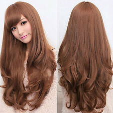 Women Curly Wavy Long Full Wig Heat Resistant Cosplay Party Hair Marketable Chic