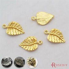 50PCS 21*13MM Alloy Leaves Charms Pendants Jewelry Findings Accessories 29178