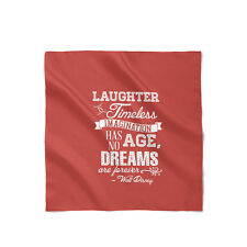 Red Laughter is Timeless Walt Disney Quote Satin Style Scarf - Bandana in 3 size