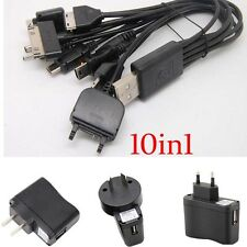 10in1 Universal Multi USB AC Charger Cable For Phone iPhone iPod PSP Nokia lead