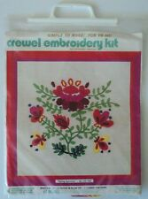 """Crewel Embroidery Kit Spring Spectrum Picture Or Pillow Top 15"""" x 15"""" #CR/1005"""