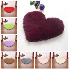Love Heart Fluffy Anti-Skid Shaggy Soft Foam Bedroom Floor Mat Rug Pad Carpet