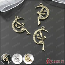 30PCS 24*13MM Moon fairy Charms Pendants Jewelry Findings Accessories 25299