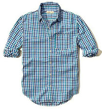 New Hollister By Abercrombie Mens Button Down Sports and Flannel Shirt Size XL