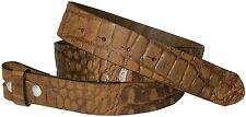 FRONHOFER Change Belt 3,5 cm Crocodile leather Look Push button Full cowhide