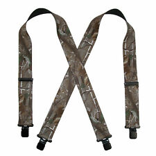 New CTM Men's Elastic Clip-End 2 Inch Realtree Camo Suspenders