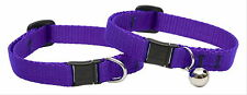 NEW LUPINE CAT SAFETY COLLAR PURPLE W/ OR W/O BELL Made in USA GUARANTEED