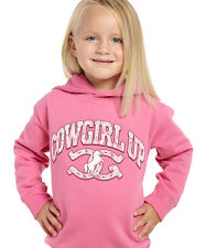 Cowgirl Up Toddler Girls Pink Cotton Hoodie Sweatshirt Logo