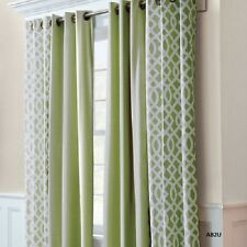 Pair Thermal Insulated Window Grommet Top Curtain Panels 2 Curtains Set Panel