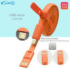 Micro USB Noodle Cable Data Sync Charger Cable For Samsung Htc Android phones