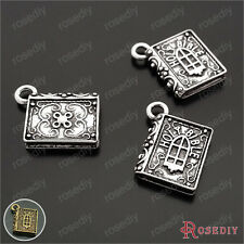 20PCS 18*15MM Zinc Alloy Book Charms Pendants Jewelry Findings Accessories 26820