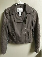 American Rag Womans Juniors Bomber Jacket Sz Small Quilted det  Tailan/Brown