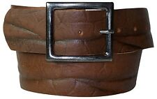 FRONHOFER wide BELT 5cm Plus size rectangular Clasp real leather belt