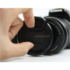 52 58 62 72 mm Center Pinch Lens Cap Cover f Canon Nikon Sony Tamron DSLR Camera