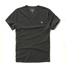New Abercrombie By Hollister Mens V Neck T Shirt Gray