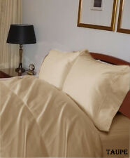 1000TC Complete USA Bedding Set Solid Taupe 100% Cotton Choose Sizes & Items