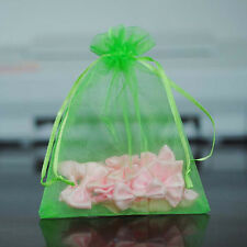 100Pcs Organza Pouch Wedding Party Favor Gift Candy Bag Jewelry Packing 9x12cm