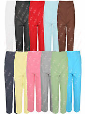 Women Elasticated Waist Band Straight Leg Trousers Pants Plus Size 8-22