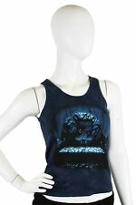 Skulbone Dark Blue Girl's Creepy Bedroom Nightmare Juniors Tank Top $20.80 CAD