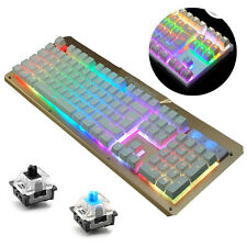 87/104 Keys K26 Ergonomic Backlit illuminated Gaming Mechanical Keyboard Gamer