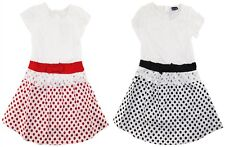Sweet & Soft Baby Girls Infant Lace With Polka Dots and Bow Dress