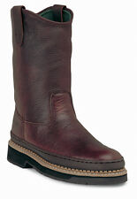 Georgia Giant Mens Soggy Brown Leather Wellington Steel Toe Work Boots