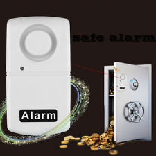 New Wireless Window Door Security Vibration Detector Alarm 110db White E5