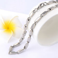 Mens jewelry stainless steel silver chain womens necklace Fit dog tag