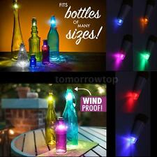 Hexagon Cork Shaped Rechargeable USB LED Night Light Party Wine Bottle Lamp W7C5