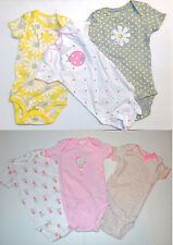 Just One You Carter Girls 3 Pack Bodysuit 2 Choices Sizes NB, 3M or 12M NWT
