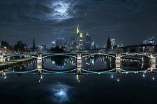 Frankfurt at Full Moon Print, Canvas or Stretched Canvas